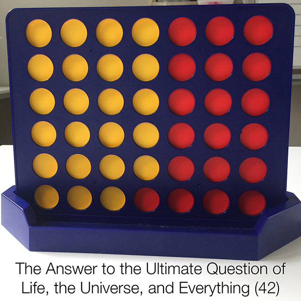 Connect 4 and the Answer to the Ultimate Question